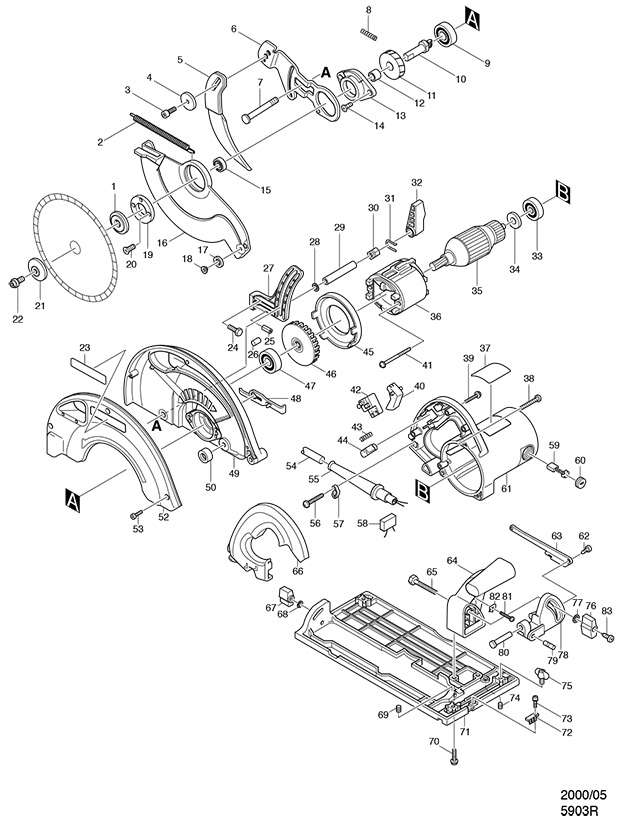 Makita 5903R Spare Parts - Part Shop Direct on
