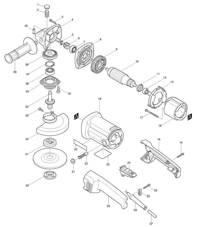 makita 9015b spare parts