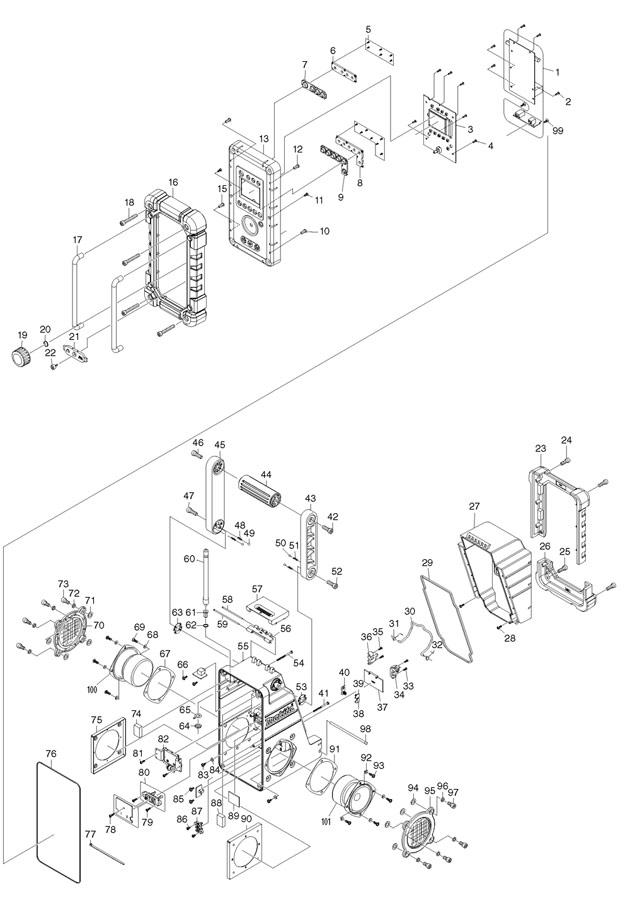 makita bmr102 spare parts