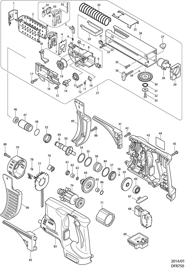 Makita 195183-0 Auto Feed Front End for 6844