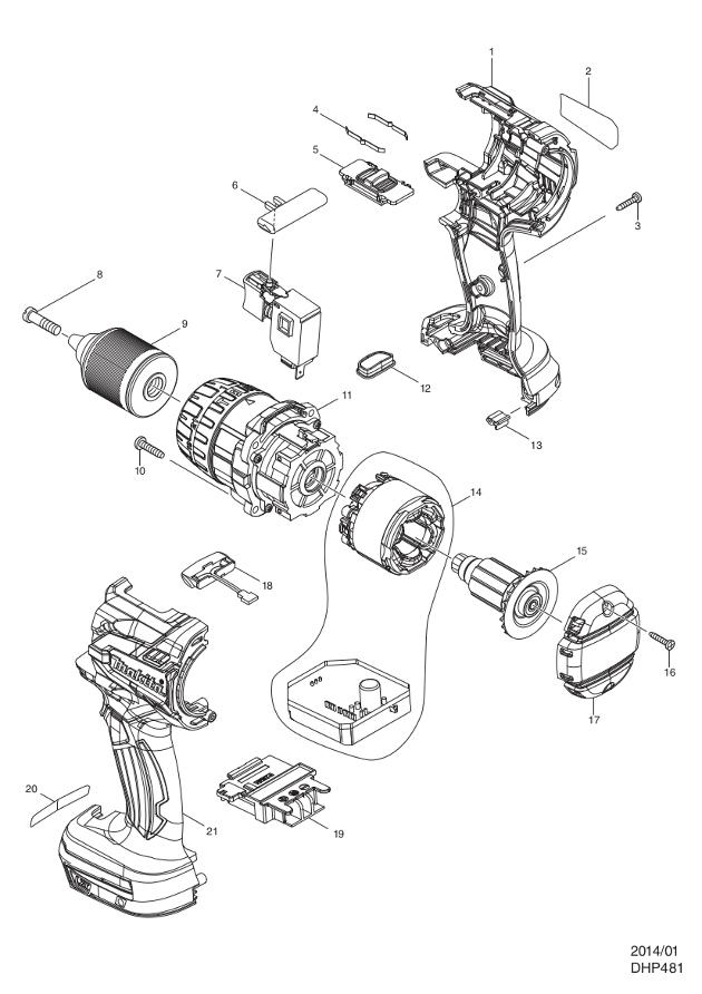 Makita Part Number 126410-4 Gear Assembly Fits various Makita models