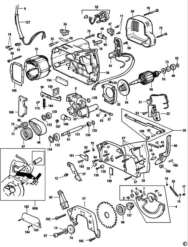 dewalt dw701 type 1 mitre saw spare parts
