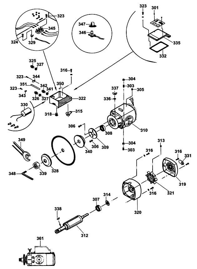 dewalt dw728 type 1 radial arm saw spare parts part shop. Black Bedroom Furniture Sets. Home Design Ideas