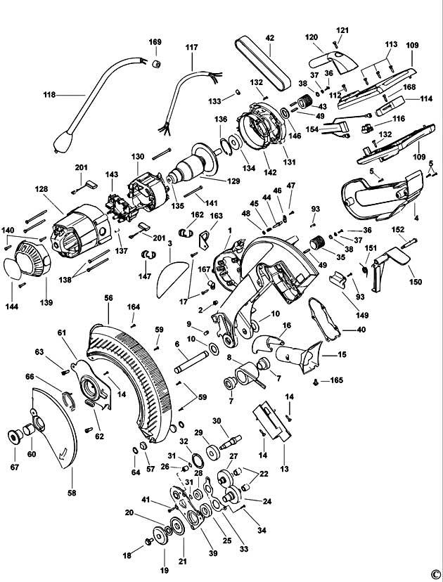 Dewalt Dw706 Type 1 Mitre Saw Spare Parts