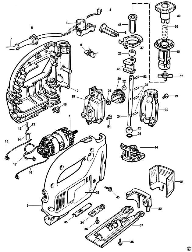 Black Amp Decker Ks635s Type 4 Jigsaw Spare Parts Part