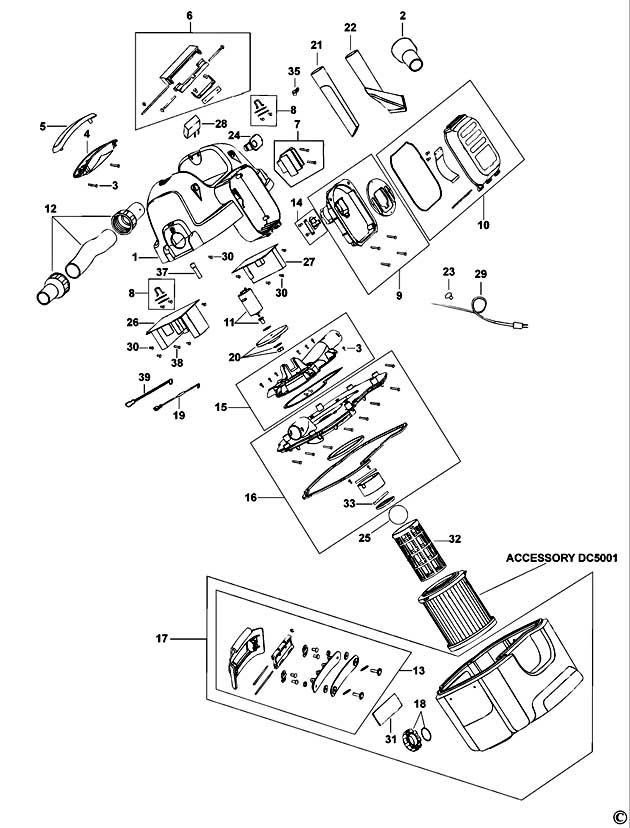 dewalt dc500 vacuum wiring diagram