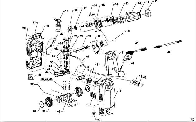 Black  U0026 Decker Pw1350 Type 1 Pressure Washer Spare Parts
