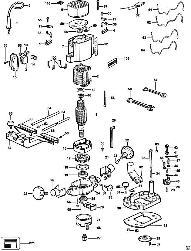 Dewalt Dw615 Type 5 Router Spare Parts