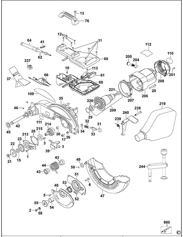 Dewalt Dw713 Type 1 Mitre Saw Spare Parts