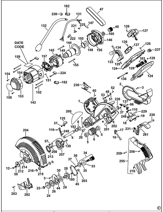 Dewalt Dw717 Type 1 Mitre Saw Spare Parts