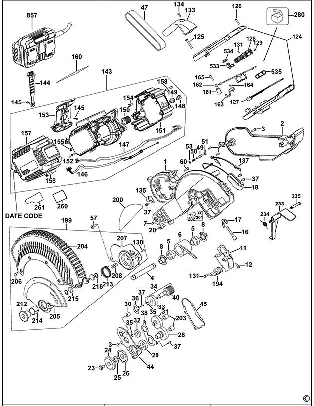 Dewalt Dhs780 Mitre Saw Spare Parts
