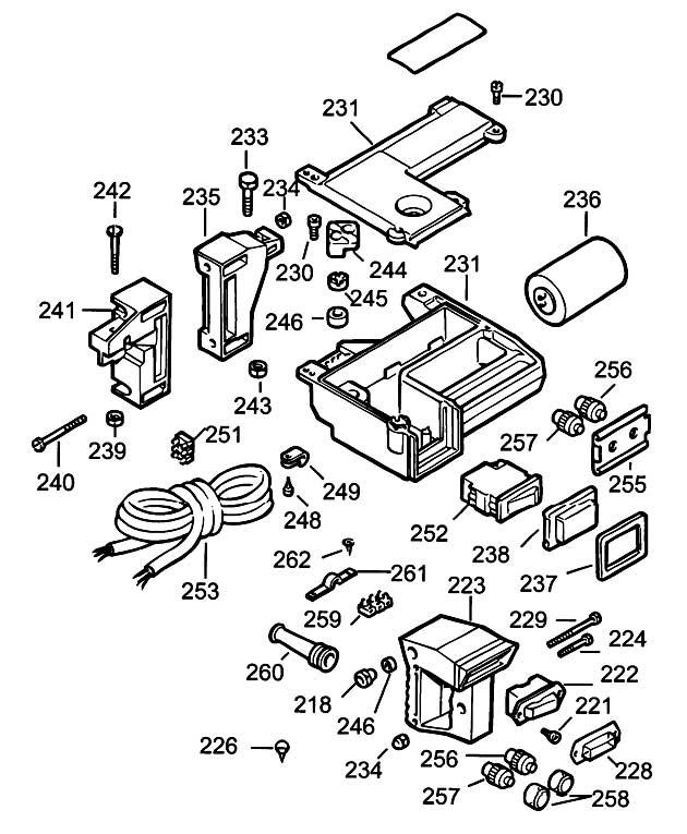 Dewalt Dw1251 Type 1 Radial Arm Saw Spare Parts