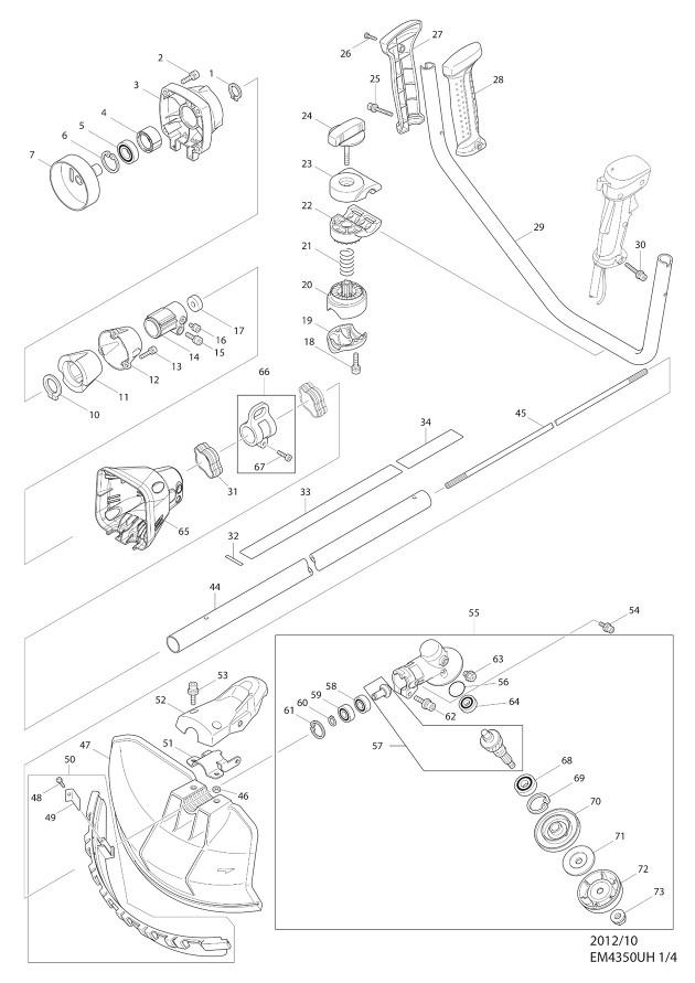 Makita EM4350UH Spare Parts - Part Shop Direct on