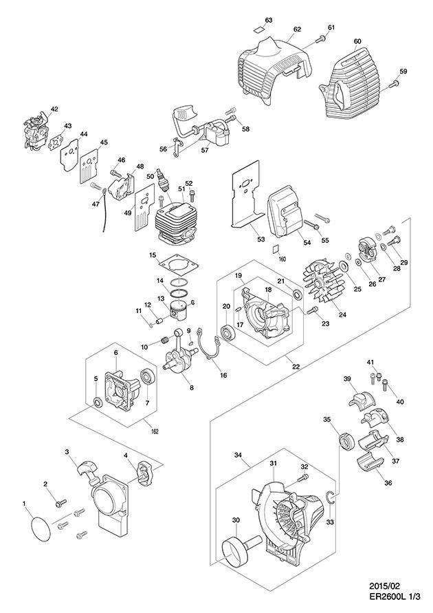 Makita ER2600L Spare Parts - Part Shop Direct on
