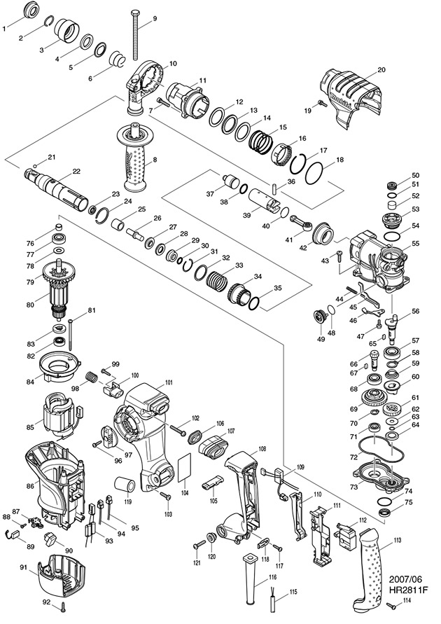 Makita Hr Switch Wiring Diagram on