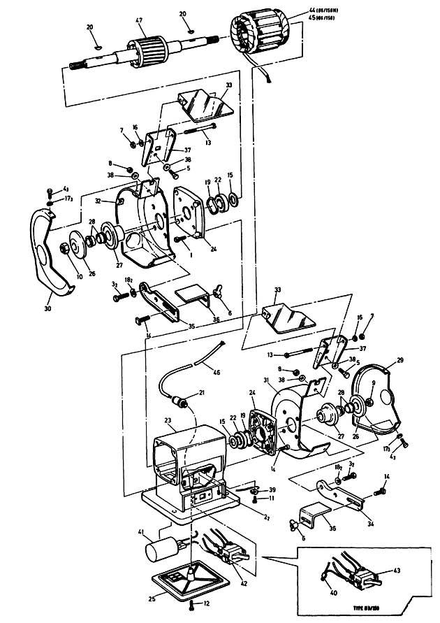 Black Amp Decker P7501 Type 1 Bench Grinder Spare Parts