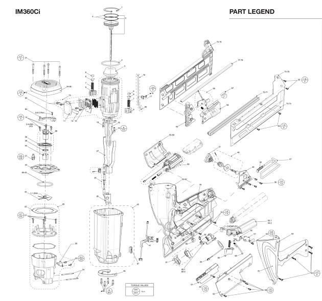Paslode IM360CI Cordless Lithium Gas 1st Fix Framing