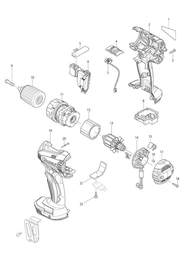 Makita Bdf446 14 4v Lxt Li Ion Cordless 2 Speed Drill