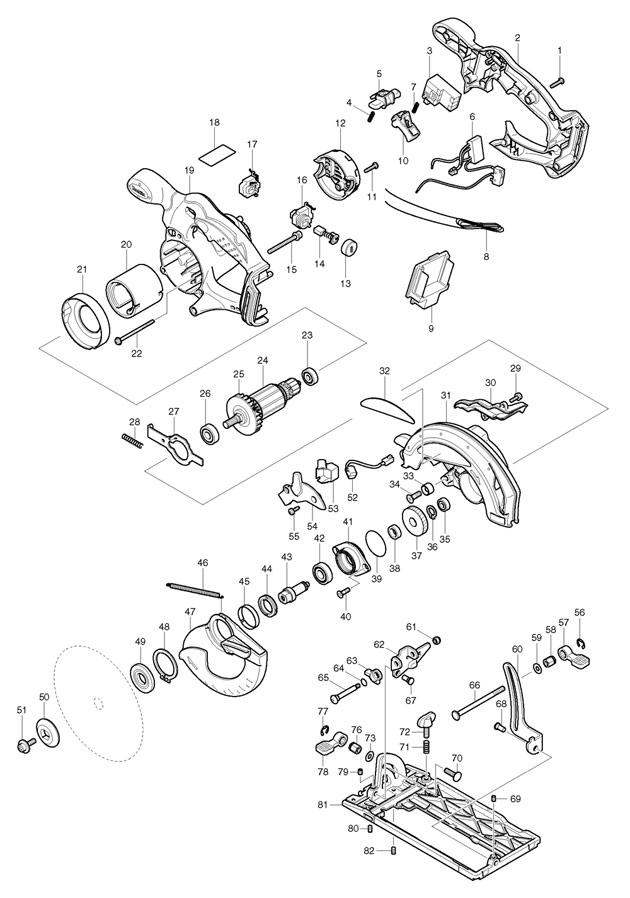 makita bss610 spare parts