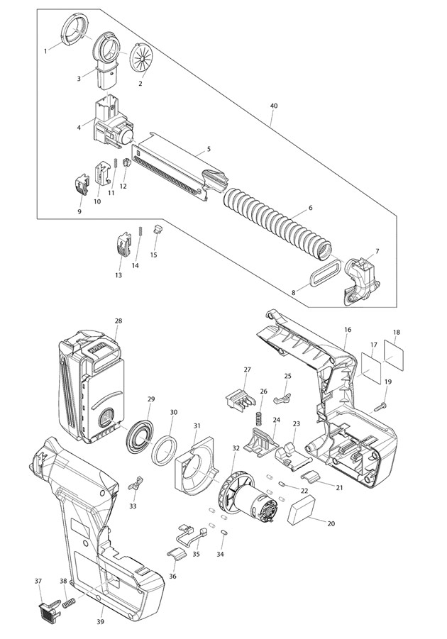 makita dx02 spare parts part shop direct