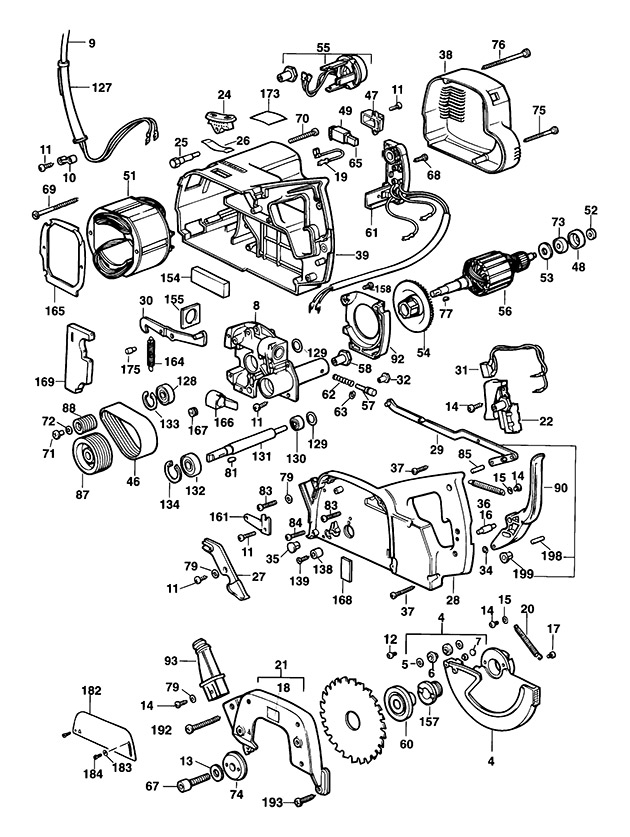 Elu PS274E Type 1 Crosscut, Mitre Saw Spare Parts