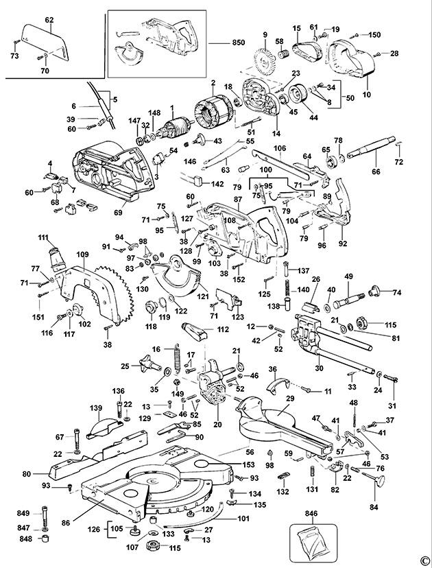 Elu ps174 type 5 crosscut mitre saw spare parts part shop direct ex vat inc vat elu armature keyboard keysfo Images