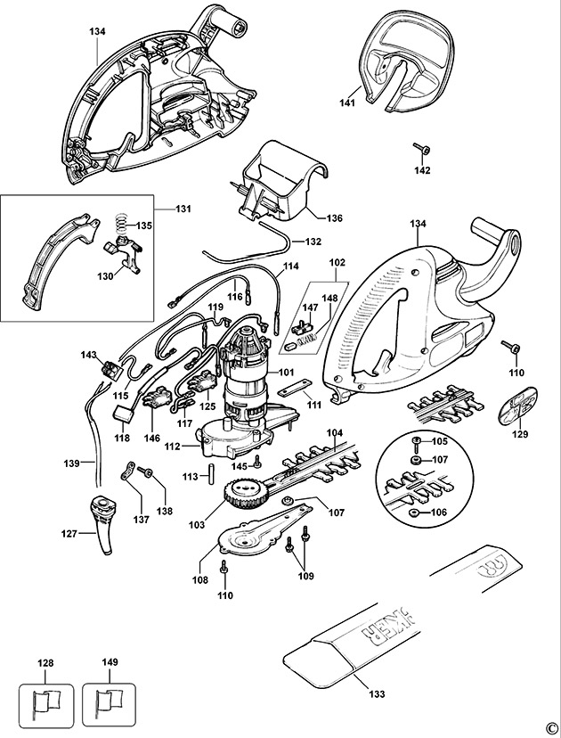 Black And Decker Hedge Trimmer Wiring Diagram