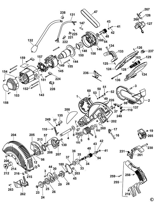 dewalt dw717xps type 1 mitre saw spare parts