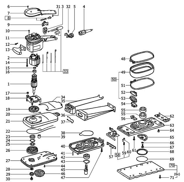 Festool 490036 Rs 100 Q Orbital Sander Spare Parts