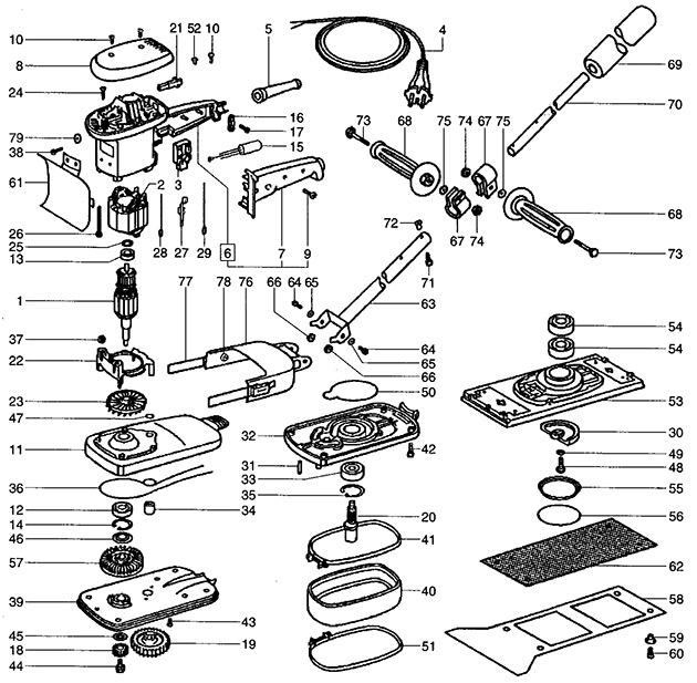 Festool 487277 Tpe Rs 1 Carpet Remover 230v Spare Parts