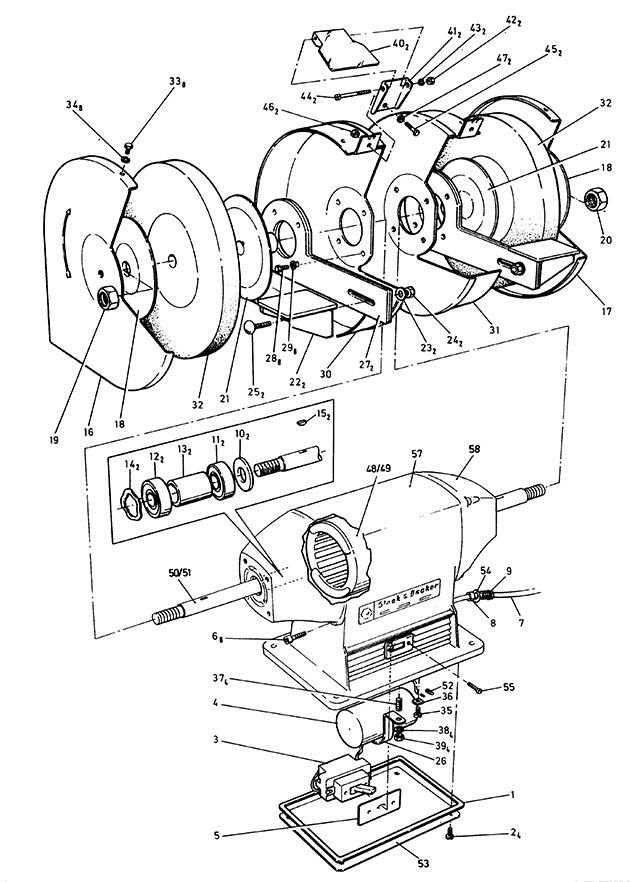 Black Decker P7610 Type 1 Bench Grinder Spare Parts Part Shop Direct