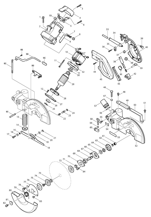 Makita LS1013  Spare Parts