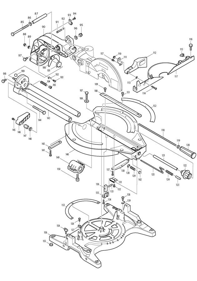 makita ls1013 spare parts