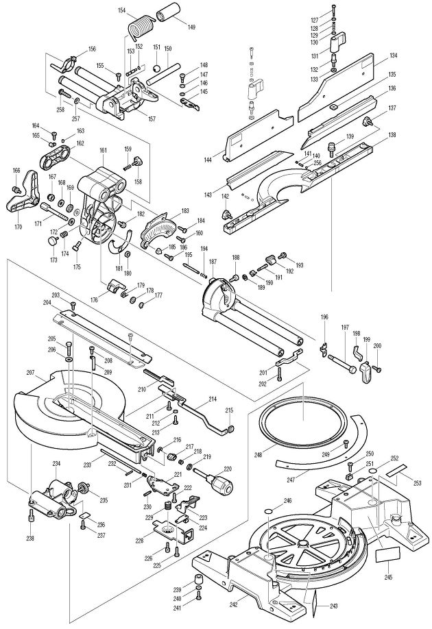 makita ls1016l spare parts