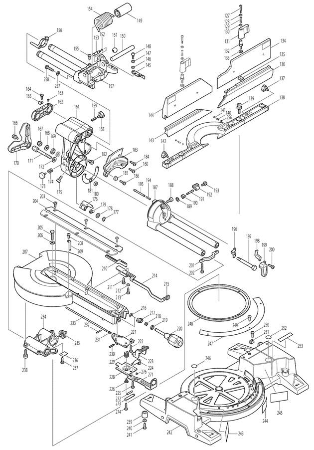 makita ls1216l spare parts
