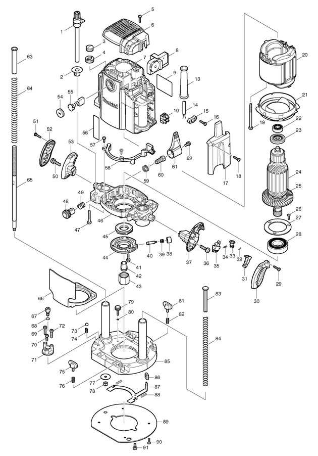 makita rp2301fc spare parts