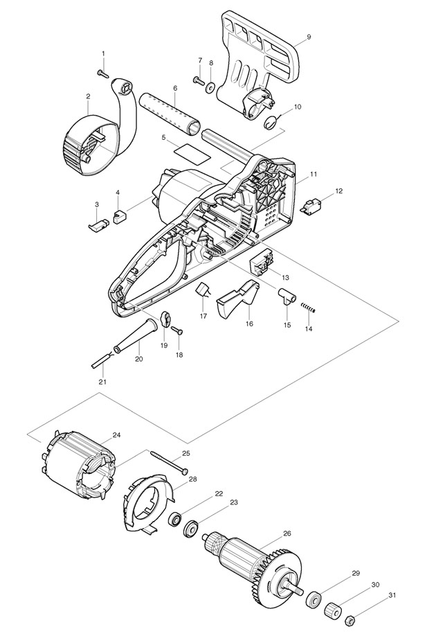 Makita Electric Chainsaw Parts Diagram Simple Electronic