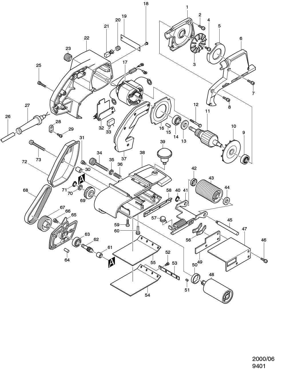 NEU Original Makita 9403 BELT SANDER 100MM Repair Spare Parts Replacement