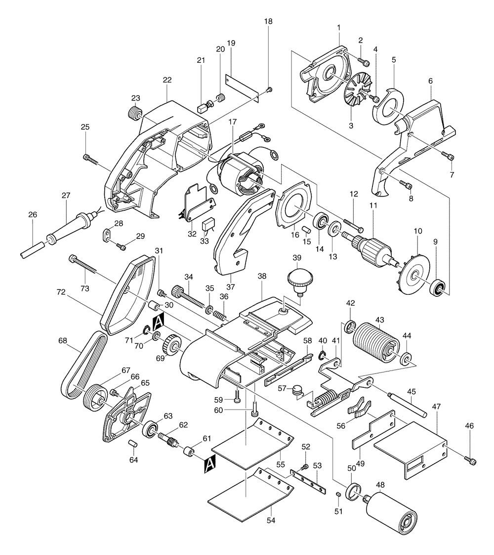 makita 9401 spare parts part shop direct. Black Bedroom Furniture Sets. Home Design Ideas
