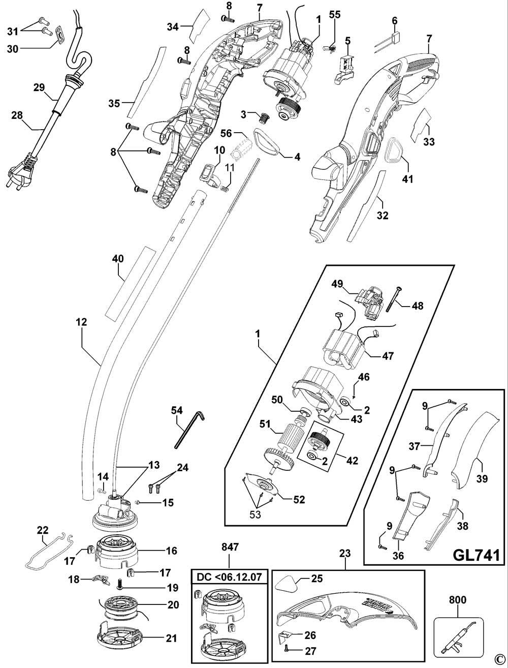 Spool /& Line for BLACK /& DECKER GLC120 GLC2500 GLC3000 GLC3630 Strimmer x 4