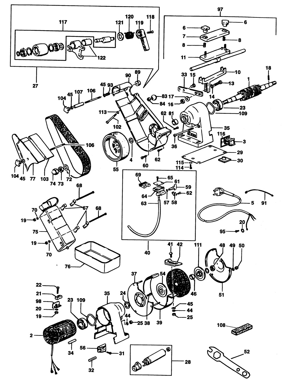 Elu Mwa61w Type 3 Bench Grinder Spare Parts Part Shop Direct