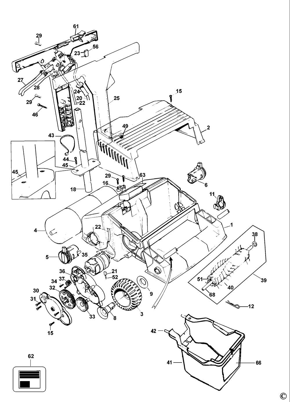 Black /& Decker 2 X Lawnrake Scarifier Stub Wheel Axle GD195 GD200 LR400 GD200