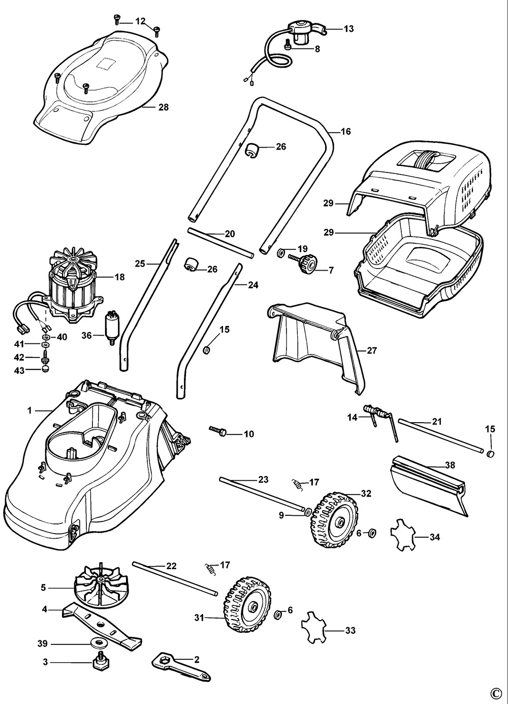 Black And Decker Lawn Mower Parts : Black decker gr type rotary mower spare parts