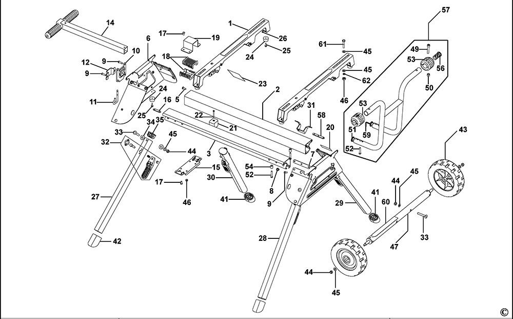 Dewalt De7400 Type 1 Leg Stand Spare Parts Part Shop Direct
