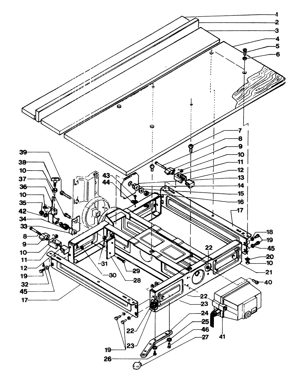 dewalt radial arm saw parts diagram dewalt dw1201----d type 1 radial arm saw spare parts ... #11