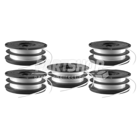 Black & Decker A6495X5 Pack Of 5 Replacement Strimmer Double Line Auto Feed  White Spool And Line Gl7
