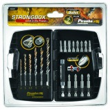 Piranha Strongbox Bullet Tip Masonry Drill Bits and Screwdriving (19 Pieces)