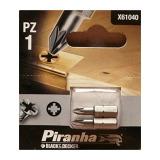 Black /& Decker Piranha X61064 Pack of 2 T30 Torx Head 25mm Screwdriver Bits