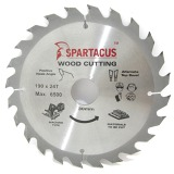 Spartacus 190 x 24T x 30mm Wood Cutting Cordless Circular Saw Blade